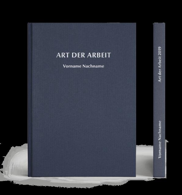 Hardcover Leinen Prägung mit Name