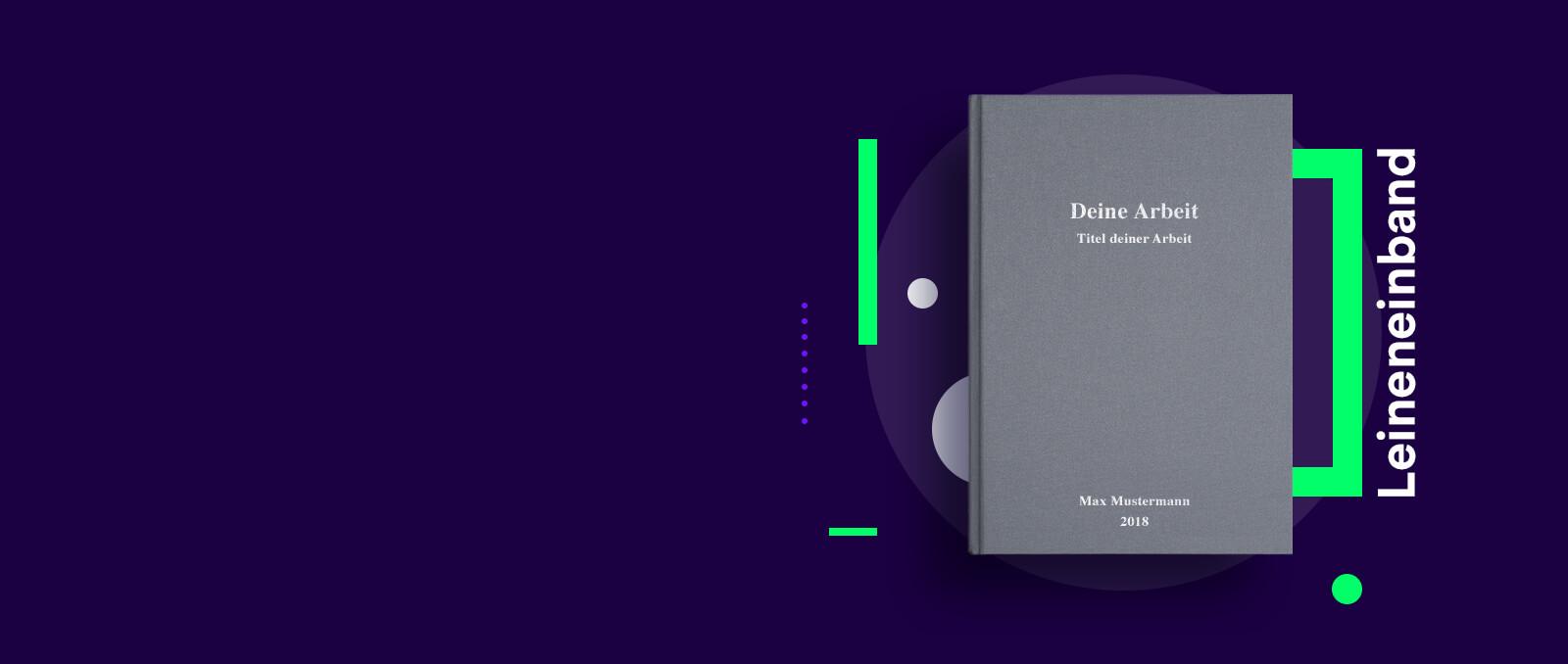 Hardcover Leinenbuch für deine Abschlussarbeit