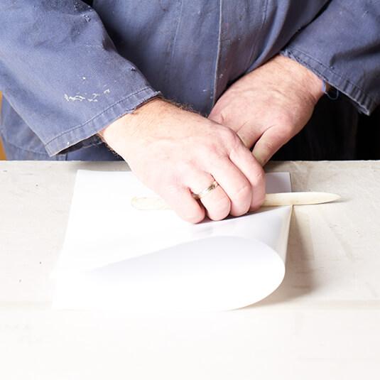finito Buchbinderei papier falzen