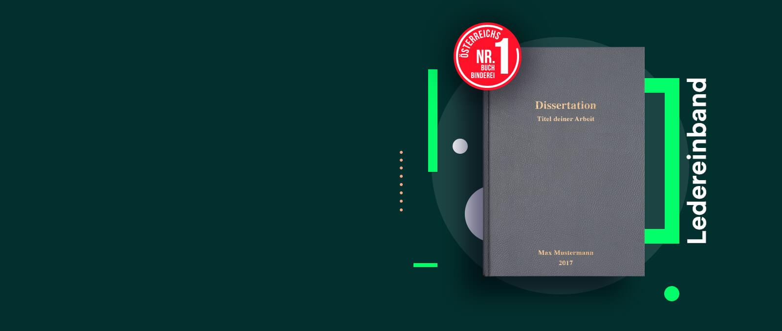 finito Österreichs Nr. 1 Buchbinderei für Dissertationen