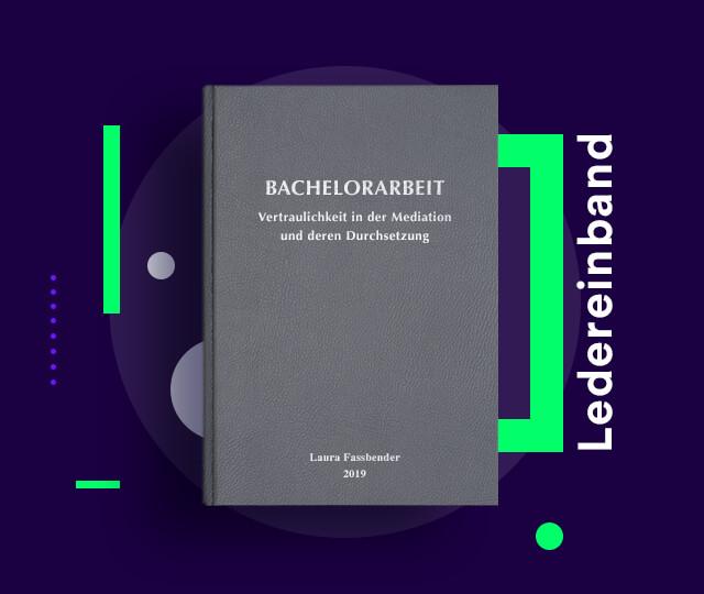 Bachelorarbeit drucken binden FH Technikum Wien