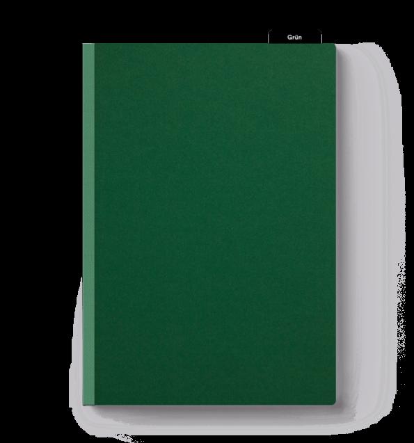 Klebebindung Softcover dunkelgrün drucken & binden