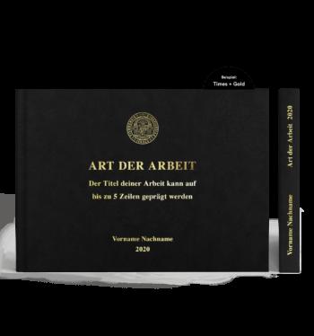 A4 Hardcover Querformat mit Prägung Gold