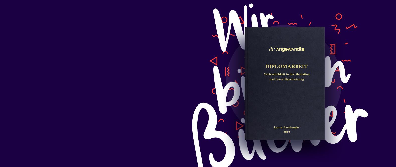 Diplomarbeit drucken & binden Angewandte Kunst Uni Wien