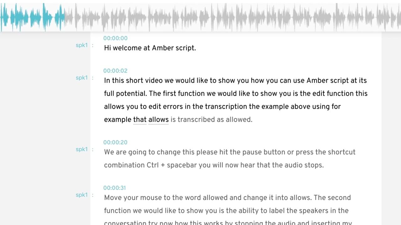 Amberscript Transkribieren online